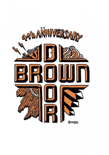 BROWNDOOR 4th Anniversary T-shirts Artwork : UNO YOSHIHIKO